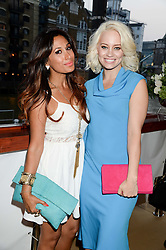 The Johnnie Walker Gold Label Reserve Party aboard John Walker & Sons Voyager, St.Georges Stairs Tier, Butler's Wharf Pier, London, UK on 17th July 2013.<br /> Picture Shows:-Preeya Kalidas & Kimberly Wyatt.