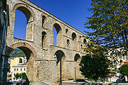 Greece, East Macedonia and Thrace Region, Kavala, Kamares Aqueduct, built 1530 by Suleiman the Magnificent.