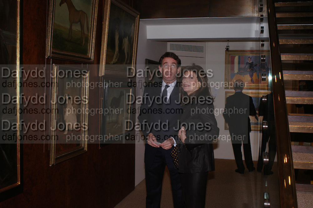 Tim Jefferies and Marina Palma. 'The Road to Abtsraction' an exhibition of paintings by Rosita Marlborough. the Fleming Collection. 13 Berkeley St. London W1. 31 March 2005. ONE TIME USE ONLY - DO NOT ARCHIVE  © Copyright Photograph by Dafydd Jones 66 Stockwell Park Rd. London SW9 0DA Tel 020 7733 0108 www.dafjones.com