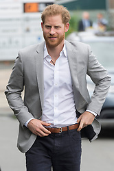 © Licensed to London News Pictures. 12/06/2019. London, UK. The Duke of Sussex attends the launch of Made By Sport at Black Prince Trust. Made by Sport is borne out of the recognition that sport can play a fundamental role in developing skills that make a difference at school, at work and in life. Photo credit: Ray Tang/LNP
