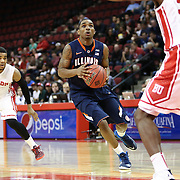 Tracy Abrams #13 of the Illinois Fighting Illini goes up for a layup during the NIT First Round game at Agganis Arena on March 19, 2014 in Boston, Massachusetts . (Photo by Elan Kawesch)