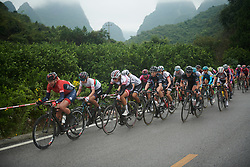 The chase of Kennedy at GREE Tour of Guangxi Women's World Tour 2018, a 145.8 km road race in Guilin, China on October 21, 2018. Photo by Sean Robinson/velofocus.com