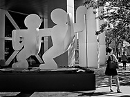 """Keith Haring's """"Untitled (Two Dancing Figures)""""  near Battery Park."""