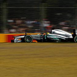 F1 Australian Grand Prix 15 March 2013 Practice Session 2.Practice Session 2. Nico Rosberg Mercedes AMG Petronas turn 7..(c) MILOS LEKOVIC | StockPix.eu