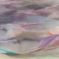 This was one of my creations while a student with Paul Brekke at the Factory of Visual Arts in Seattle. The directive - paint something purple. This began, took over, became personal, and transformed into horizontal flow. Materials: Pastel on museum-grade archival quality Rives paper