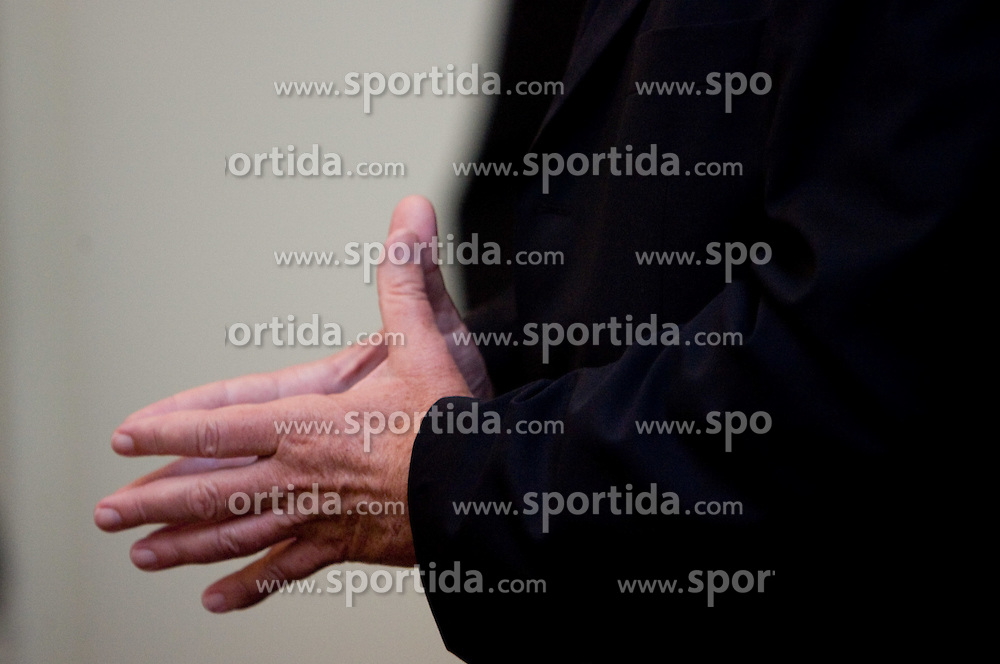 Hands of Dusan Sesok of Slovenian basketball national team after Eurobasket 2009 at reception at president of Slovenia dr. Danilo Türk,  on September 28, 2009, in Presernova 8, Ljubljana, Slovenia.  (Photo by Vid Ponikvar / Sportida)