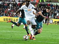 Football - 2017 / 2018 Premier League - Swansea City vs. Southampton<br /> <br /> Tammy Abraham of Swansea City attacks, at Liberty Stadium.<br /> <br /> COLORSPORT/WINSTON BYNORTH