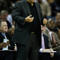 January 12, 2011; New Orleans, LA, USA; Orlando Magic head coach Stan Van Gundy against the New Orleans Hornets during the second half at the New Orleans Arena. The Hornets defeated the Magic 92-89.  Mandatory Credit: Derick E. Hingle