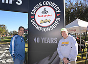 Dec 8, 2018; Balboa Park, CA, USA; David  Glassman (left) and Bruce Thomson pose during the 40th Foot Locker cross country championships at Morley Field.