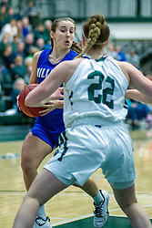BLOOMINGTON, IL - January 04: Miranda Fox during a college women's basketball game between the IWU Titans  and the Millikin Big Blue on January 04 2020 at Shirk Center in Bloomington, IL. (Photo by Alan Look)