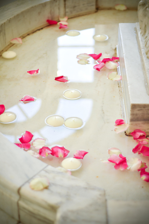 Floating Petals & Candles at The Armour House, Lake Forest, IL