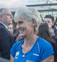 Judy Murray after the visit by The Duchess of Cambridge to Craigmount High School.