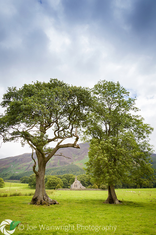 The beautiful church of St. Bega stands in the grounds of Mirehouse, a local historic property, close to the shore of Bassenthwaite Lake, Cumbria.  The building dates from pre-Norman times.