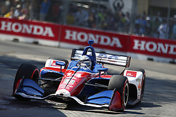 July 15, 2018 - Toronto, Ontario, Canada - TONY KANAAN (14) of Brazil battles for position during the Honda Indy Toronto at Streets of Toronto in Toronto, Ontario. (Credit Image: © Justin R. Noe Asp Inc/ASP via ZUMA Wire)