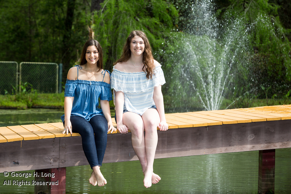 High school senior portrait of Alexandra Randazzo and Callie Matthews in Abita Springs; photo ©2018, George H. Long