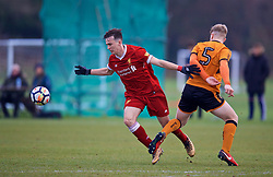 WOLVERHAMPTON, ENGLAND - Tuesday, December 19, 2017: Liverpool's Liam Millar during an Under-18 FA Premier League match between Wolverhampton Wanderers and Liverpool FC at the Sir Jack Hayward Training Ground. (Pic by David Rawcliffe/Propaganda)