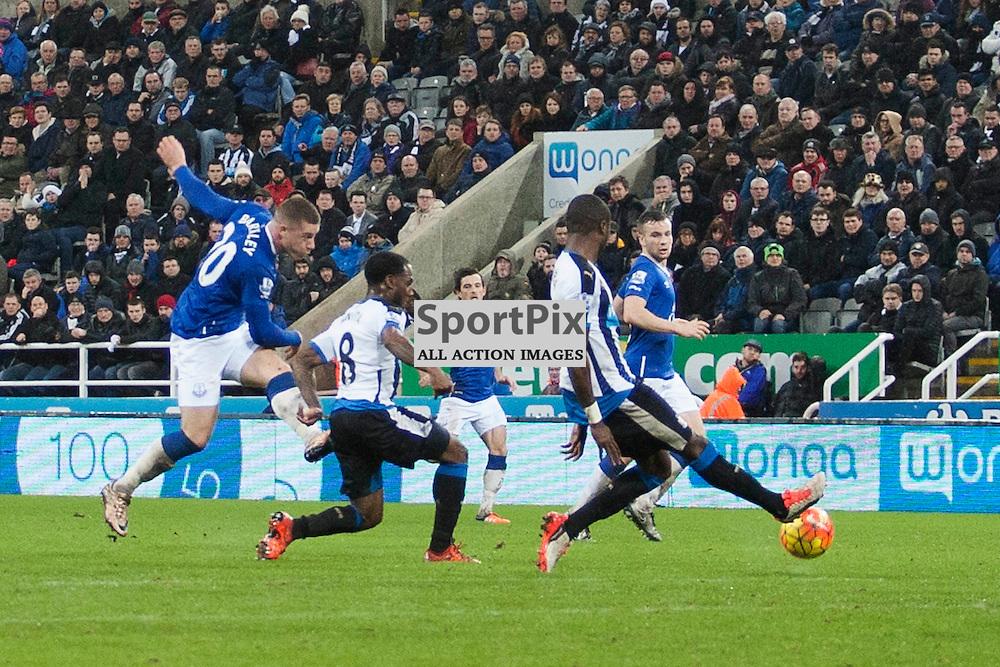 Ross Barkley shot in the Newcastle v Everton 26 December 2015<br /><br />(c) Russell G Sneddon / SportPix.org.uk