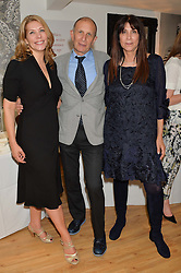 Left to right, LEAH HARDY, DR DANIEL SISTER and SUSIE ROGERS at the launch of 'Your Hormone Doctor' a book by Leah Hardy, Susie Rogers and Dr Daniel Sister held at The Library, 206-208 Kensington Park Road, London W11 on 8thMay 2014.