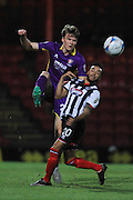 Rob Dickie and Nathan Arnold during the Vanarama National League match between Grimsby Town FC and Cheltenham Town at Blundell Park, Grimsby, United Kingdom on 30 October 2015. Photo by Antony Thompson.