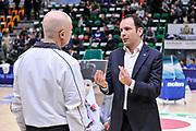 DESCRIZIONE : Campionato 2014/15 Serie A Beko Dinamo Banco di Sardegna Sassari - Upea Capo D'Orlando<br /> GIOCATORE : Paolo Citrini Paolo Taurino<br /> CATEGORIA : Before Pregame Fair Play<br /> SQUADRA : Dinamo Banco di Sardegna Sassari<br /> EVENTO : LegaBasket Serie A Beko 2014/2015<br /> GARA : Dinamo Banco di Sardegna Sassari - Upea Capo D'Orlando<br /> DATA : 22/03/2015<br /> SPORT : Pallacanestro <br /> AUTORE : Agenzia Ciamillo-Castoria/L.Canu<br /> Galleria : LegaBasket Serie A Beko 2014/2015