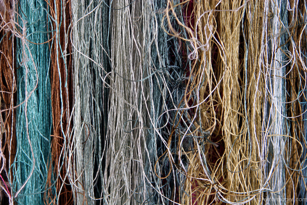Asia, China, Suzhou. Silk threads.