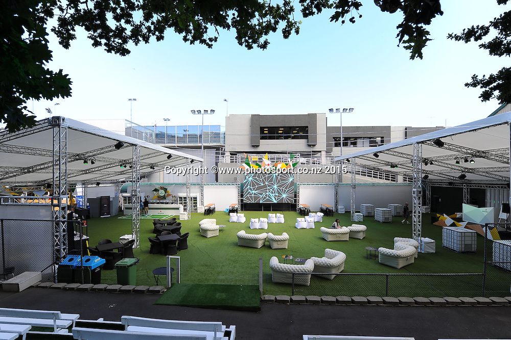 Heineken Baseline Party setup on Day 2 of the ASB Classic Women's International. ASB Tennis Centre, Auckland, New Zealand. Tuesday 6 January 2015. Copyright photo: Chris Symes/www.photosport.co.nz