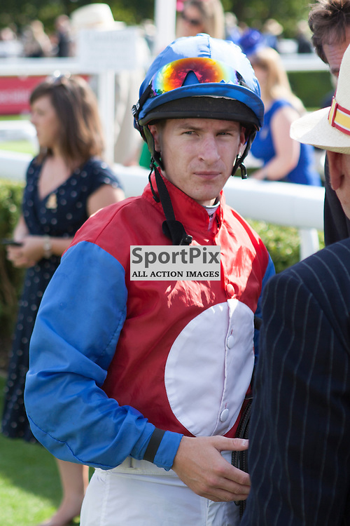 Richard Kingscote after is win in The Markel Insurance Maiden Fillies Stakes Goodwood Races 2014, Fifth Race 4.15pm – 6F Glorious Goodwood 30th July, Day 2. Chichester, West Sussex. (c) SAM TODD | SportPix.org.uk