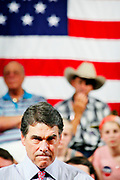 Texas Governor and Presidential candidate Rick Perry (R-Tx) holds a Town Hall meeting in Derry in New Hampshire.