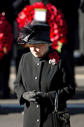 © London News Pictures. 11/11/2012. London, UK. HRH Queen Elizabeth II (pictured centre) lduring a Remembrance Day Ceremony at the Cenotaph on November 11, 2012 in London, United Kingdom. Photo credit: Ben Cawthra/LNP