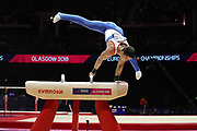 Nikita Nagornyy (Russia) the pommel horse competition during the presentation of the teams during the European Championships Glasgow 2018, Team Men Final at The SSE Hydro in Glasgow, Great Britain, Day 10, on August 11, 2018 - Photo Laurent Lairys / ProSportsImages / DPPI