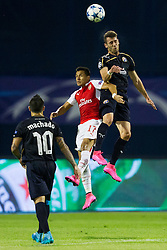 Paulo Machado #10 of GNK Dinamo Zagreb and Alexis Sanchez #17 of Arsenal F.C. during football match between GNK Dinamo Zagreb, CRO and Arsenal FC, ENG in Group F of Group Stage of UEFA Champions League 2015/16, on September 16, 2015 in Stadium Maksimir, Zagreb, Croatia. Photo by Urban Urbanc / Sportida
