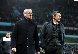 Leicester City Manager Claudio Ranieri and Aston Villa Manager Remi Garde walk down the touch line together. - Mandatory byline: Alex James/JMP - 16/01/2016 - FOOTBALL - Villa Park - Birmingham, England - Aston Villa v Leicester City - Barclays Premier League