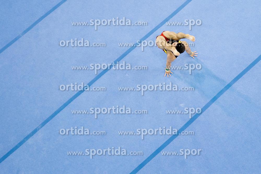 Brian Gladow of Germany competes in the Floor Exercise during Final day 1 of Artistic Gymnastics World Cup Ljubljana, on April 27, 2013, in Hala Tivoli, Ljubljana, Slovenia. (Photo By Vid Ponikvar / Sportida.com)