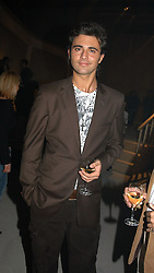 Singer DARIUS DANESH at an exhibition of work by Rolf Sachs - a unique world-renowned contemporary furniture designer, held in association with the Louisa Guinness Gallery and held at 250 Brompron Road, London on 6th October 2004.<br />