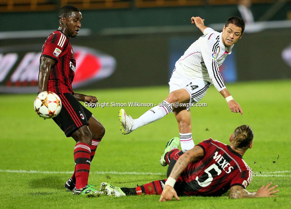Dubai Football Challenge 2014, Sevens Stadium Dubai, 30/12/14 - 1st half shot by Real Madrid's Daniel Hernandez