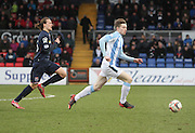 Craig Wighton races away from Ross County's Jackson Irvine - Ross County v Dundee, SPFL Premiership at The Global Energy Stadium<br /> <br />  - &copy; David Young - www.davidyoungphoto.co.uk - email: davidyoungphoto@gmail.com