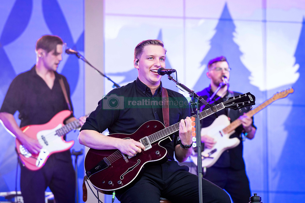 George Ezra performs live on the Pyramid Stage on day 3 of Glastonbury 2019, Worthy Farm, Pilton, Somerset. Picture date: Friday 28th June 2019.  Photo credit should read:  David Jensen/EmpicsEntertainment