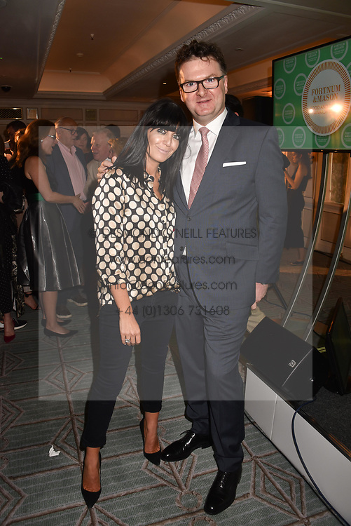 Claudia Winkleman and Ewan Venters at the Fortnum & Mason Food and Drink Awards, Fortnum & Mason Food and Drink Awards, London, England. 10 May 2018.