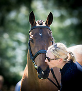 Zara Tindall-Phillips with her horse High Kingdom at the trot up for the Rolex Kentucky