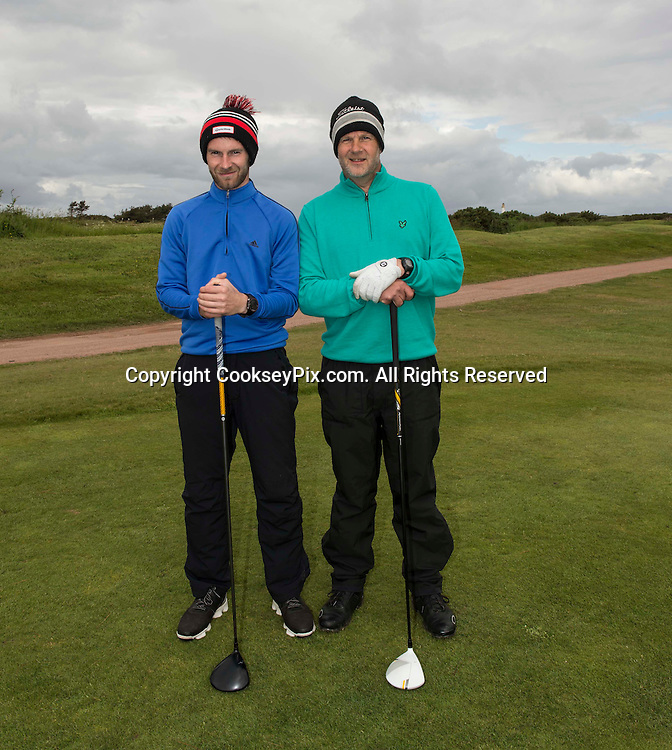Picture by Christian Cooksey/CookseyPix.com. Free First Use. Fathers Day Golf at Trump Turnberry with The Herald.<br /> <br /> Pictured LtoR Mark Skilling and Walter Meiklem from Kilmarnock.