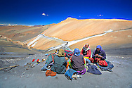 A Group of Ladies relaxing after a hard day's work...<br />