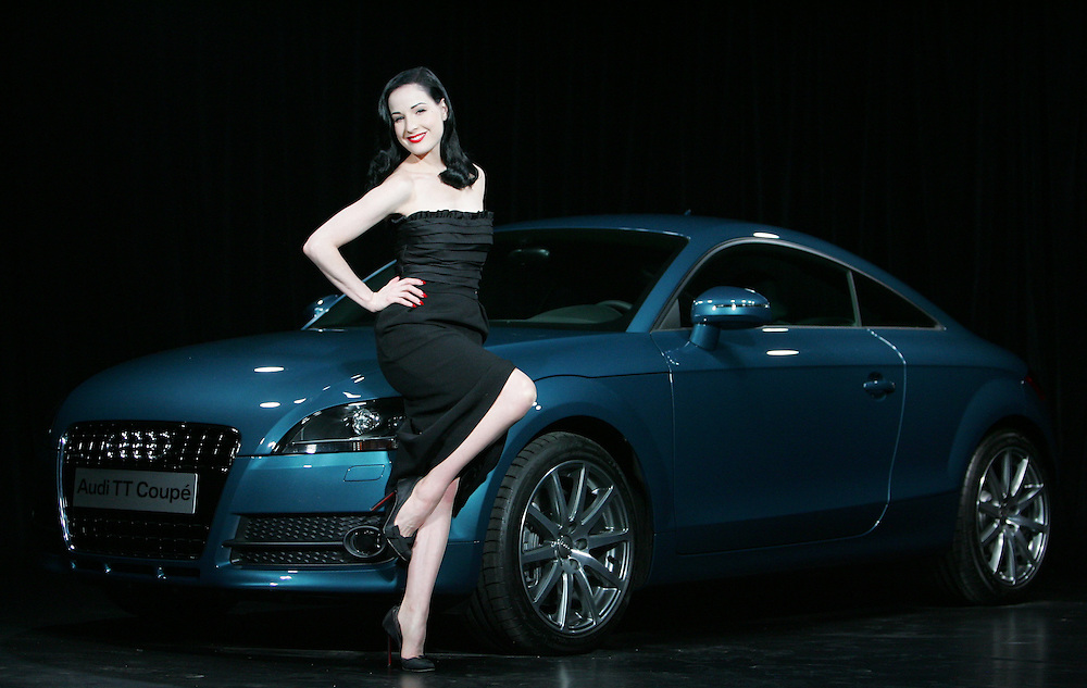 Dita von Teese launches the new Audi TT at Bridge night club in Weston St, London.