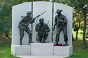 The Devonshire and Dorset Memorial at the National Memorial Arboretum, Croxall Road, Alrewas, Burton-On-Trent,  Staffordshire, on 29 October 2018. Picture by Mick Haynes.