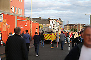Fire alarm at Tannadice just before kick off - Dundee United v Dundee at Tannadice<br /> - Ladbrokes Premiership<br /> <br />  - © David Young - www.davidyoungphoto.co.uk - email: davidyoungphoto@gmail.com