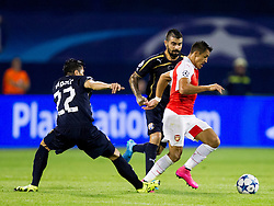 Leonardo Sigali #22 of GNK Dinamo Zagreb and Alexis Sanchez #17 of Arsenal F.C. during football match between GNK Dinamo Zagreb, CRO and Arsenal FC, ENG in Group F of Group Stage of UEFA Champions League 2015/16, on September 16, 2015 in Stadium Maksimir, Zagreb, Croatia. Photo by Urban Urbanc / Sportida