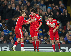 29.11.2011, Stamford Bridge, London, ENG, PL, viertelfinale, FC Liverpool vs Chelsea FC, im Bild Liverpool's Martin Kelly celebrates scoring the second goal against Chelsea during the football match of English Football League Cup, Quarter-Final, between FC Liverpool and Chelsea FC at Stamford Bridge Stadium, London, United Kingdom on 2011/11/29. EXPA Pictures © 2011, PhotoCredit: EXPA/ Sportida/ David Rawcliff..***** ATTENTION - OUT OF ENG, GBR, UK *****