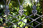 wrought iron fence design element in the Garden District of New Orleans