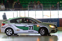 Official cars between periods during ice-hockey match between HDD Tilia Olimpija and EHC Liwest Black Wings Linz in 51st Round of EBEL league, on Februar 5, 2012 at Hala Tivoli, Ljubljana, Slovenia. (Photo By Matic Klansek Velej / Sportida)