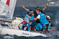 SEGUIN Damien, FRA, 1 Person Keelboat, 2.4mR, Sailing, Voile à Rio 2016 Paralympic Games, Brazil