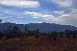 October 5, 2018 - Srinagar, Kashmir, India - Autumn Outskirts Srinagar : Early morning view of the freshly topped snow mountains in the outskirts of Srinagar, the summer capital of Indian Controlled Kashmir, India, on 5 October 2018. (Credit Image: © Masrat Jan/NurPhoto/ZUMA Press)